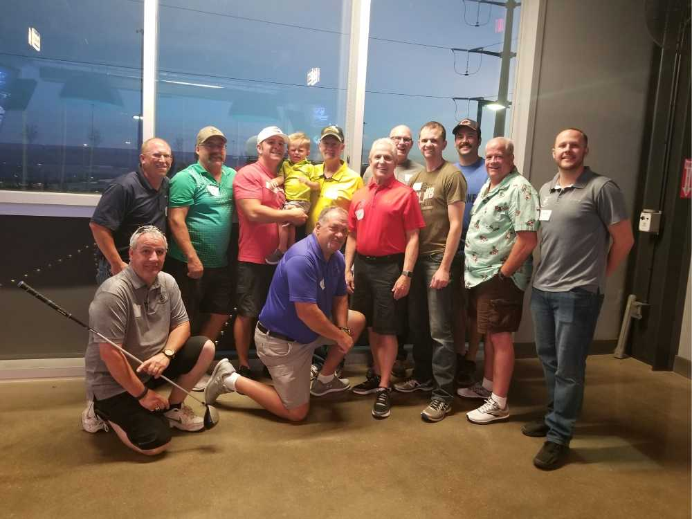 Top Golf with Our Fire Department Friends